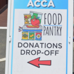 sign for food pantry donations
